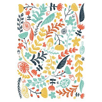 Forest Flora Beach Towel