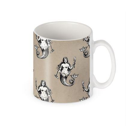 Mermaids Heraldic Ivory Builder Mug