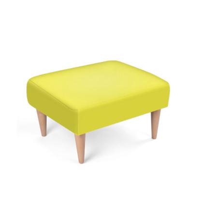 Bright Yellow Footstool