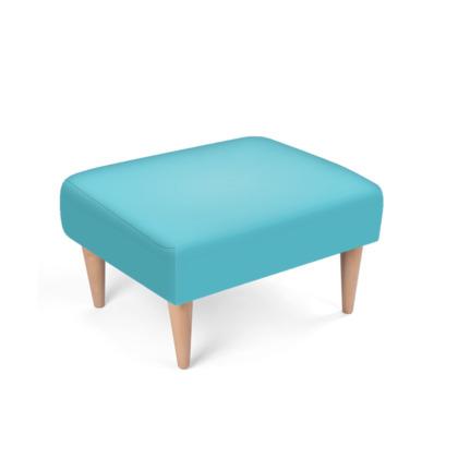 Turquoise Blue Footstool
