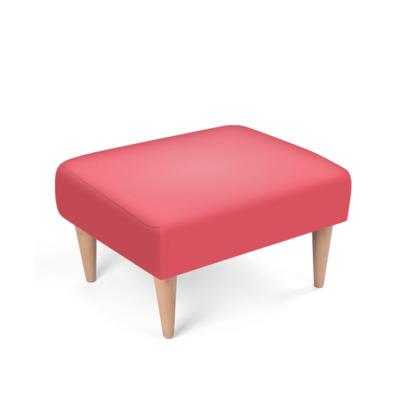 Raspberry Pink Footstool