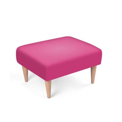 Fuchsia Pink Footstool