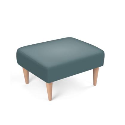 Teal Blue Grey Footstool