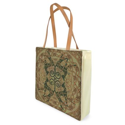 Celtic Greyhounds Shopper Bag (Natural Green)