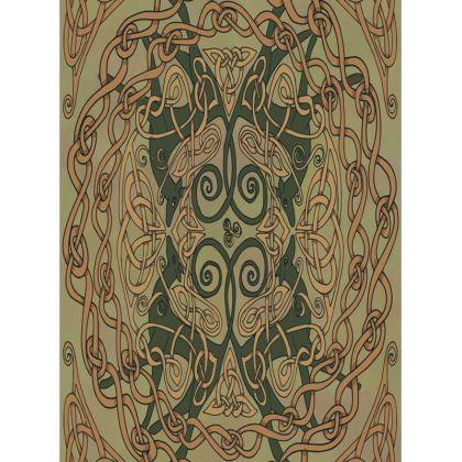 Celtic Greyhounds Tray (Natural Green)