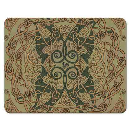 Celtic Greyhound Placemats (Natural Greens)