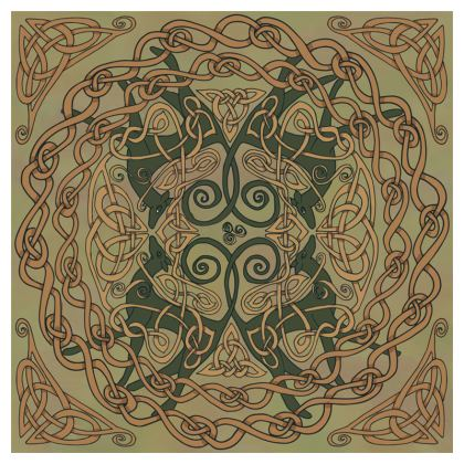 Celtic Greyhounds Coasters (Natural Greens)
