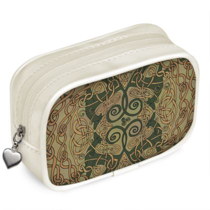 Celtic Greyhounds Pouch Purse (Natural Greens)