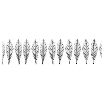 Black and White Feather Cup and Saucer