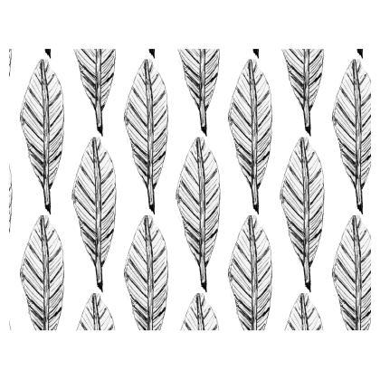 Black and White Feather Handbag