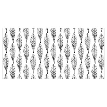 Black and White Feather Voile Curtains