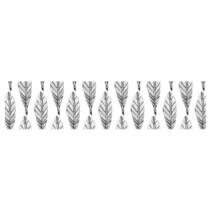 Black and White Feather Table Runner
