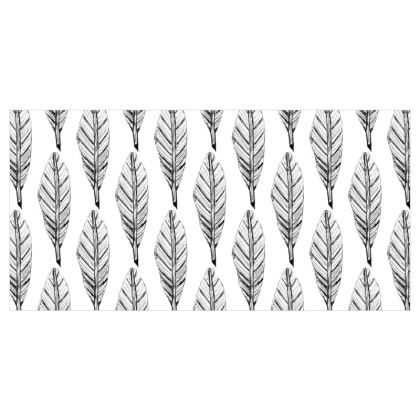 Black and White Feather Curtains