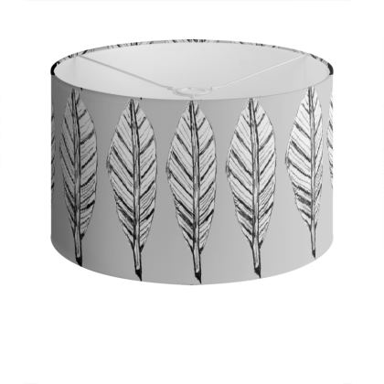 Black and White Feather Lamp Shade