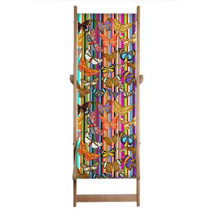 Rainbow Butterflies Single Deckchair Replacement Sling