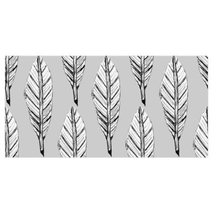 Black and White Feather Roller Blinds