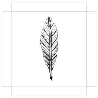 Black and White Feather Mini Canvas Prints