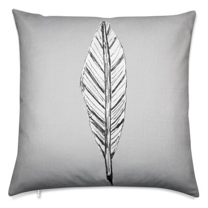 Black and White Feather Luxury Cushions