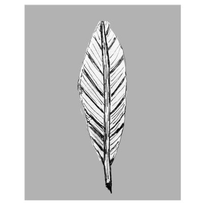 Black and White Feather Custom Sized Prints