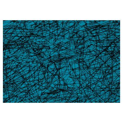 OSHO Original Skater Patterned Skirt in Blue