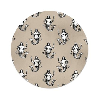 Mermaids Heraldic Ivory Serving Platter
