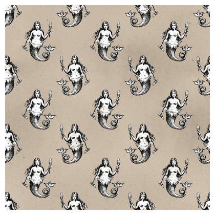 Mermaids Heraldic Ivory Cushion 50x50 cm