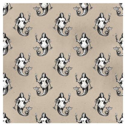 Mermaids Heraldic Ivory Occasional Chair