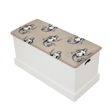 Mermaids Heraldic Ivory Blanket Box