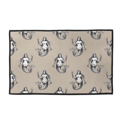 Mermaids Heraldic Ivory Towel Set of 4