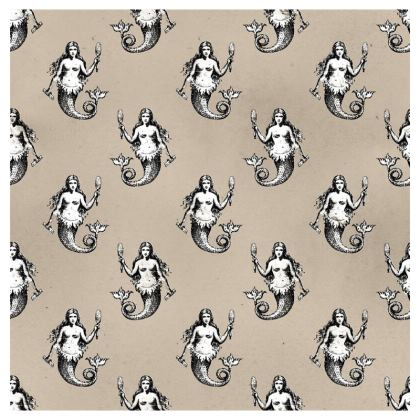 Mermaids Heraldic Ivory Cup and Saucer Set of 2