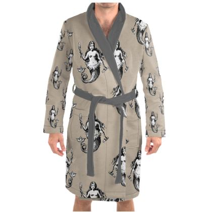 Mermaids Heraldic Ivory Dressing Gown