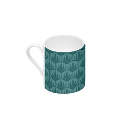 Palm Deco Pattern Cup & Saucer