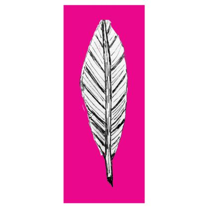 Black and White Feather Flip Flops