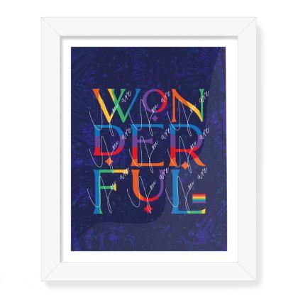 LGBT You are Wonderful framed art print