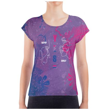 LGBT Boys? Girls? Yes Ladies T Shirt celebrating bisexuality