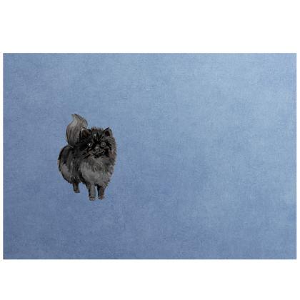 Black Pomeranian Dog- Face Mask