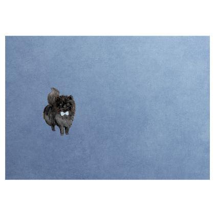 Black Pomeranian Dog Bow Tie- Face Mask