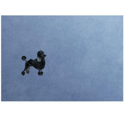 Black Poodle Dog- Face mask