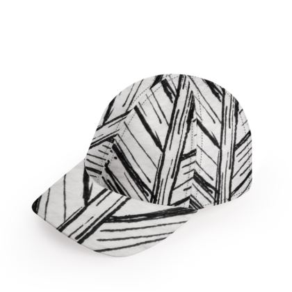 Black and White Feather Baseball Cap
