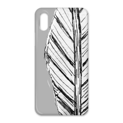 Black and White Feather iPhone Cases