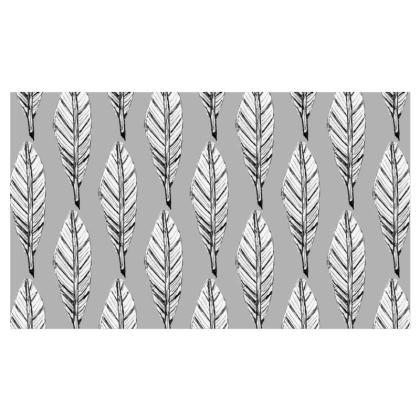 Black and White Feather Kika Tote