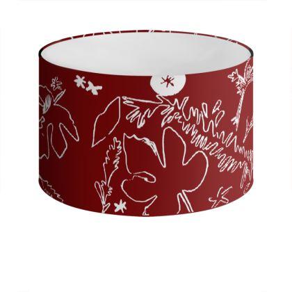 Shropshire Foliage Range- Deep Red Lamp fix