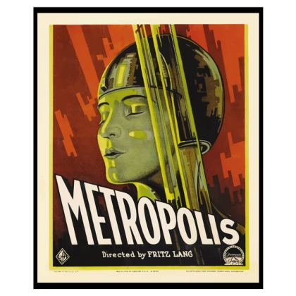 "Premium ""Metropolis"" Vintage Movie Poster Canvas Art"
