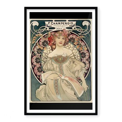 Vintage Alphonse Mucha Premium Art Print
