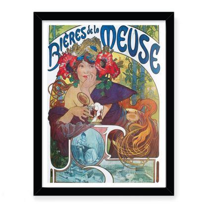 Vintage Alphonse Mucha Art Print