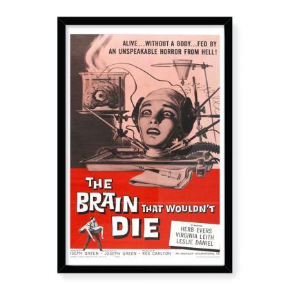 Vintage Movie Poster Art - The Brain That Wouldn't Die