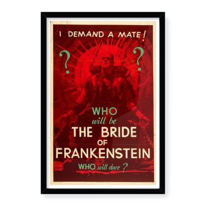 "Vintage ""The Bride Of Frankenstein"" Movie Poster Art"