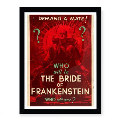 Bride Of Frankenstein Vintage Movie Poster