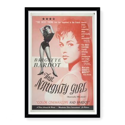 Bridget Bardot classic Movie Poster Art