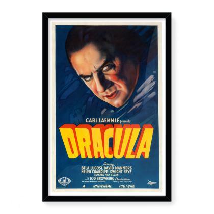 Vintage 'B' movie poster - Dracula Large